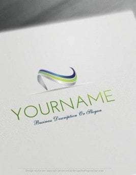 Create-a-Logo-Free-simple-wave-Logo-Templates
