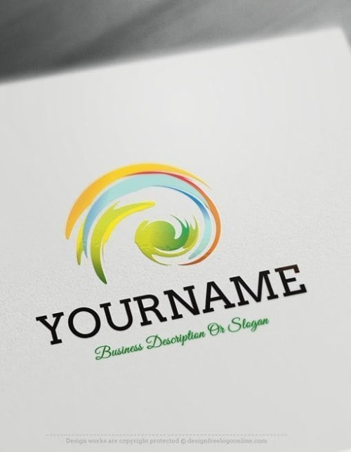 Create a logo Free - Colorful spiral Logo Templates