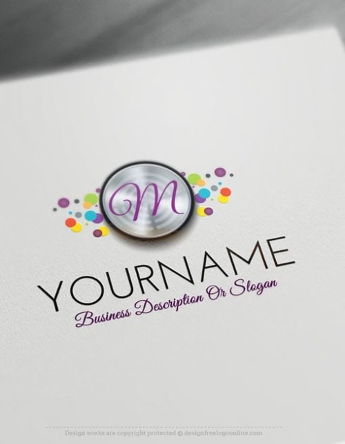 Design a logo online, Customize your colorful bubbles template instantly by using the logo generator