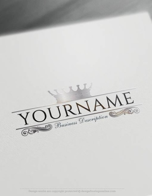 Create a logo Free – Crown Logo Templates