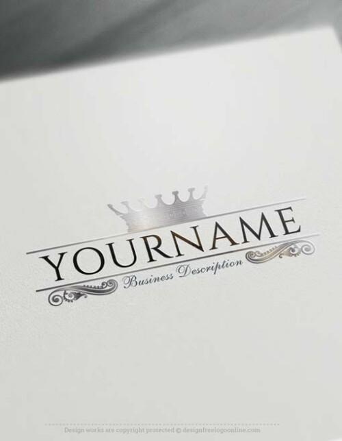 Create a logo Free – Crown Logo Templates