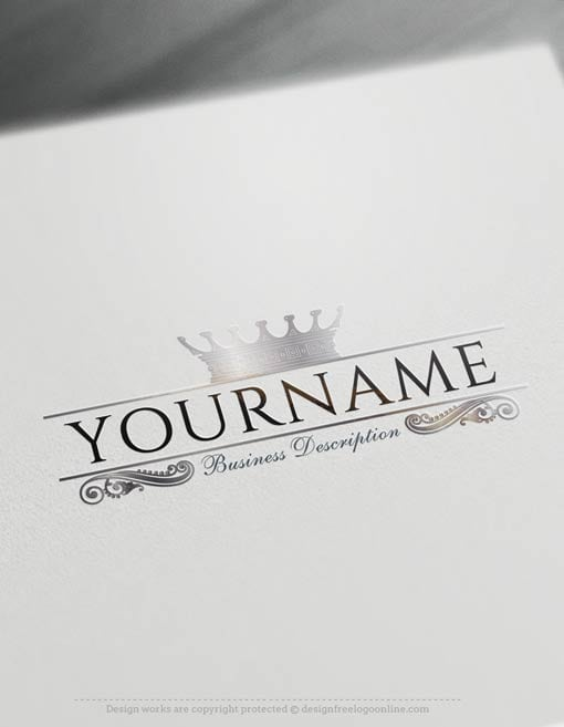 Create a logo Free – King Royal Crown Logo Templates