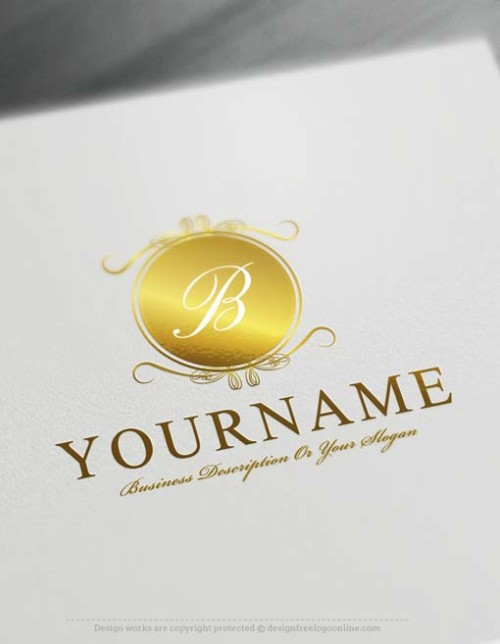 Design Free Logo: Luxury Mirror Alphabet Logo Template