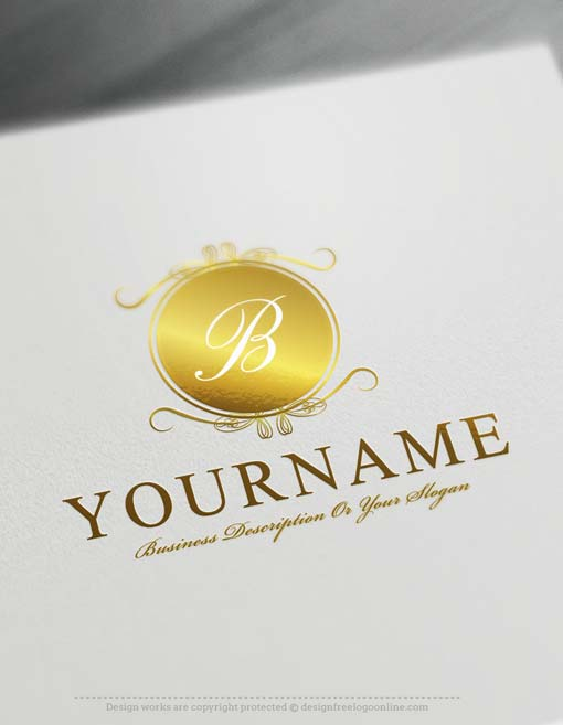Design Free Logo: Luxury Mirror Alphabet Logo Template