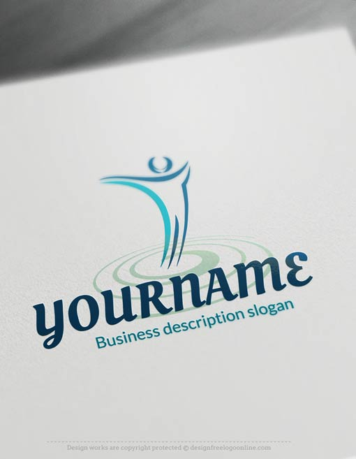 Design-Free-Design-Human-Path-Logo-Template