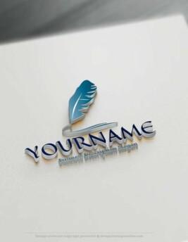 Design-Free-Education-feather-ink-pen-Logo