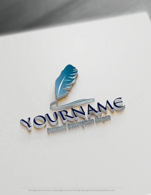 Design-Free-Education-feather-ink-pen-Logo