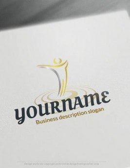 Design-Free-Human-Path-Logo-Template