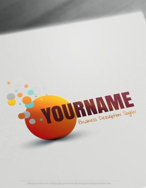 Customize This Online Bubbles Logo Template with our free logo maker tool. Change your company name, slogan, colors & fonts.