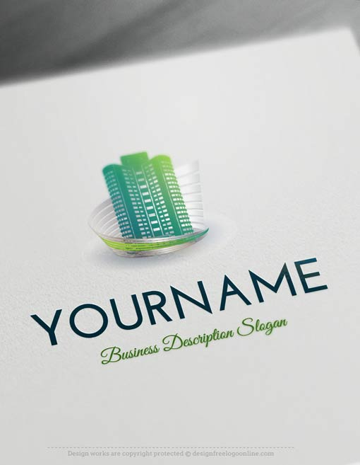 Design Free Logo: Easily customize this brand yourself with our free logo maker. Make your own Real Estate Buildings logo template designs