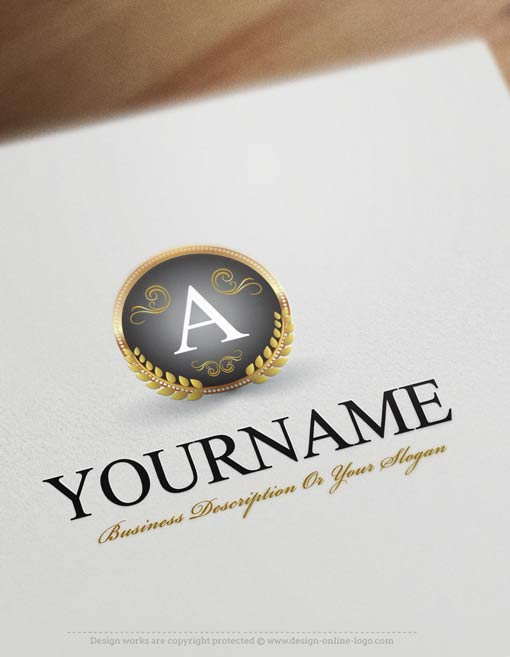 Design Free Logo: Luxury Alphabet Logo Templates