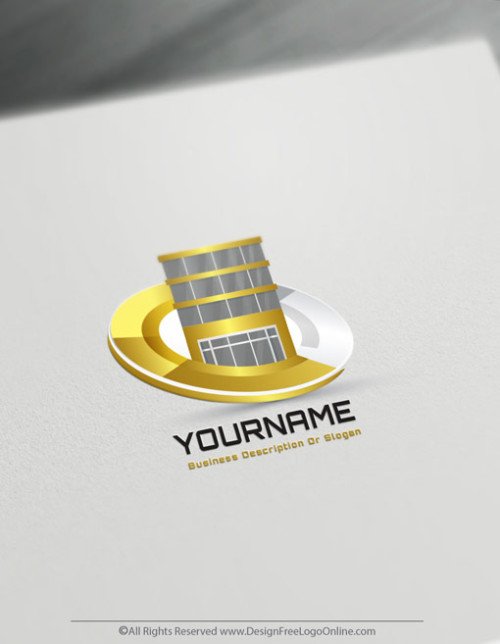 Create gold Commercial Property Logo Free - Real Estate Logo Templates