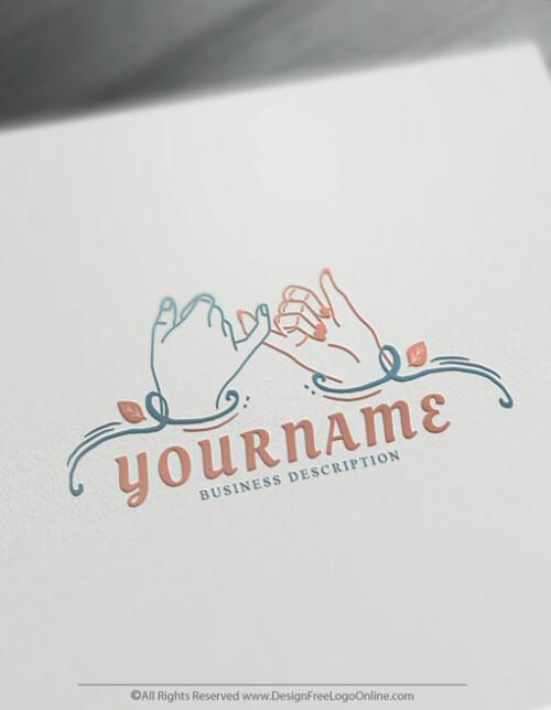 Human Pinky Promise Logo Design