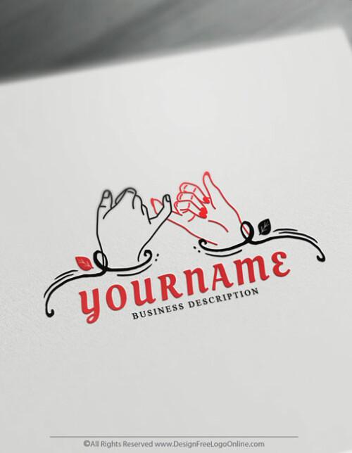 Human Pinky Promise Logo Design - Online logo designer for free