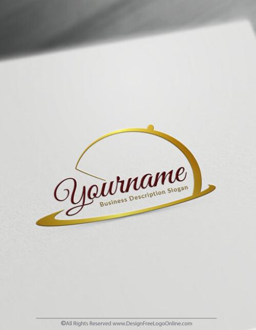Luxury Golden Chef Dish Logo Templates