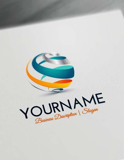 Online Logo Designs Spiral Globe online Logo