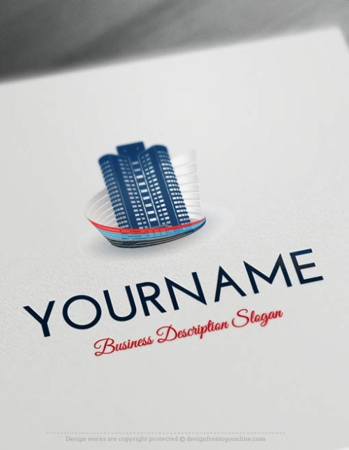 Design Free Online Real Estate Buildings logo template