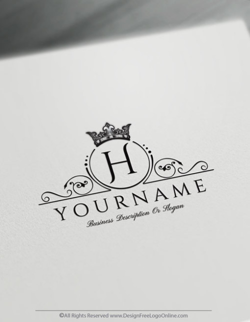 Create a vintage black crown logo online with our Free Logo Maker