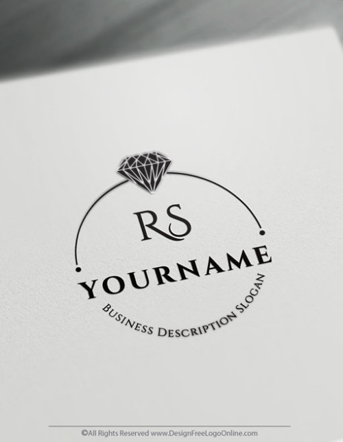 Design Your Own Free Wedding Ring Logo. Use the online Diamond Logo Maker instantly to customize your jewelry logos.