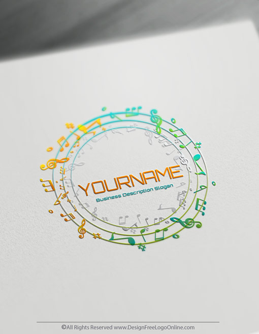 free music logo maker