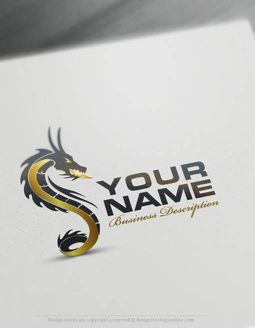 create a logo free create your own dragon logo templates