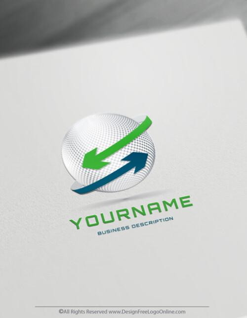 Design your modern Green 3D Arrows Logo