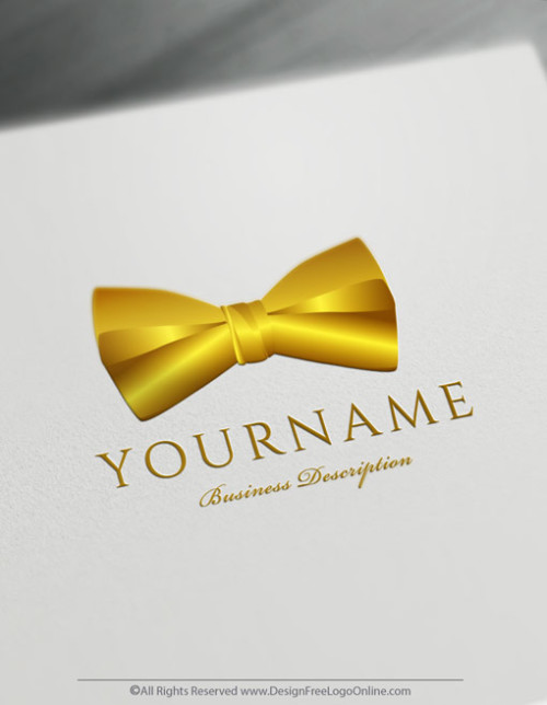 Instantly create your own Gold Bow tie Logo design