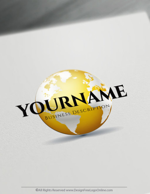 Online Gold Globe logo making never been easier using the Logo Maker app.
