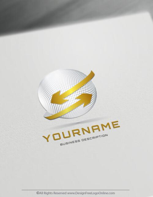 Design your modern Gold 3D Arrows Logo