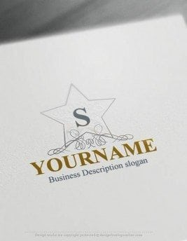 Create Logos Free - Alphabet star Logo Templates - free logo makers