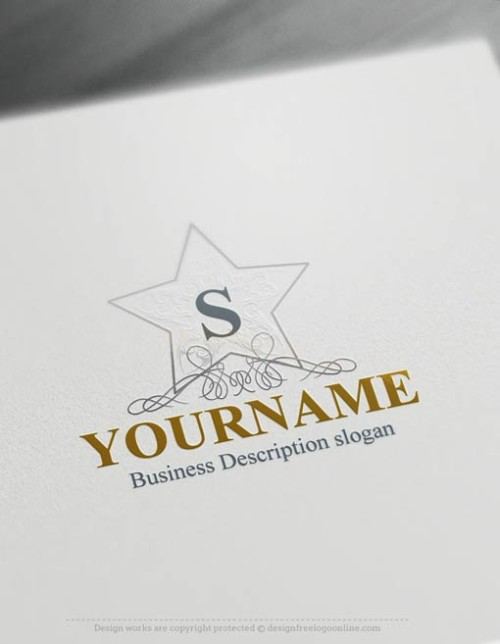 Create Logos Free - Alphabet star Logo Templates - free logo makers