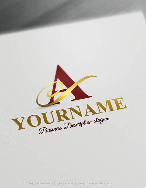 Free Logo Maker ...A Alphabet Logo Design