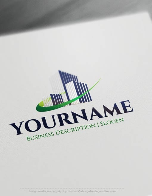 Create a Logo Free - Buildings Real Estate logo templates. Make your own Realty logo designs without graphic designer skills. Try it free