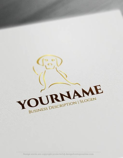 customize this Dog Logo Templates brand yourself with our free logo maker