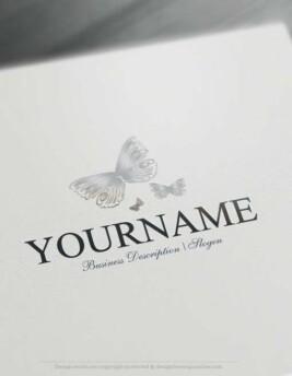 00320-Free-logo-maker--Butterflies-Logo-Templates