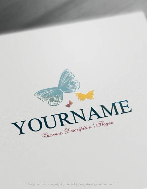 00320-Free-logo-maker---Butterflies-Logo-Templates