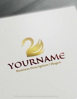 00328-Free-logo-maker---swan-Logo-Templates