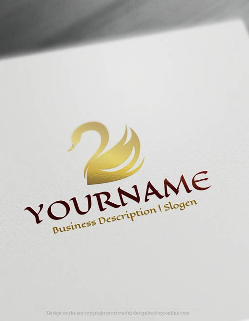design free logo  swans logo templates
