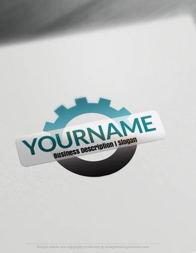 Create A Logo Free Tool Gear Logo Templates