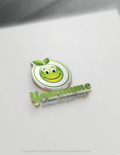 Eco Fruit button Logo Template - Design Fruit logos Instantly