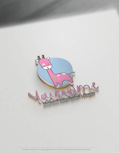 Design Free Logo: Online Giraffe Clip-art Logo Template