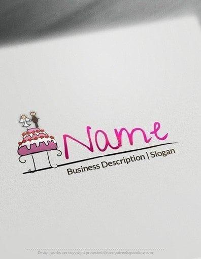 Design Free Logo Wedding Cake Logo Template