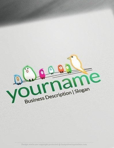 Create Cool Logo Ideas with Birds on Wire Logo Templates
