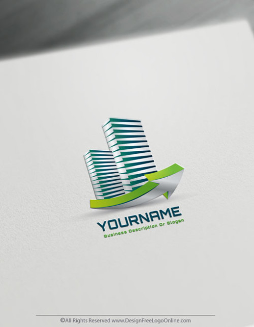 Create a finance Logo with the Real Estate Logo Maker and 3D Towers Logo Templates