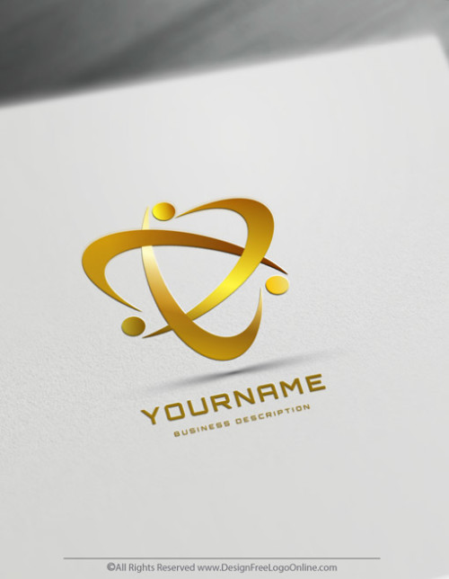Create Abstract Human Logos Free gold