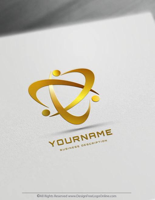 Create Golden Abstract Human Logos