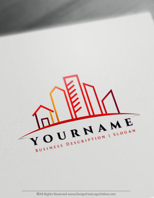 customize your own Urban City logo with the free Real Estate logo maker.