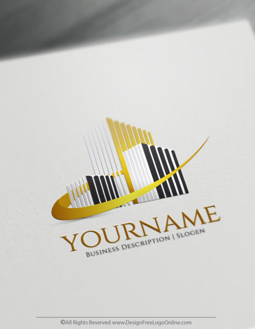 Design Your Gold Buildings logo ideas with Free Real Estate Logo Maker