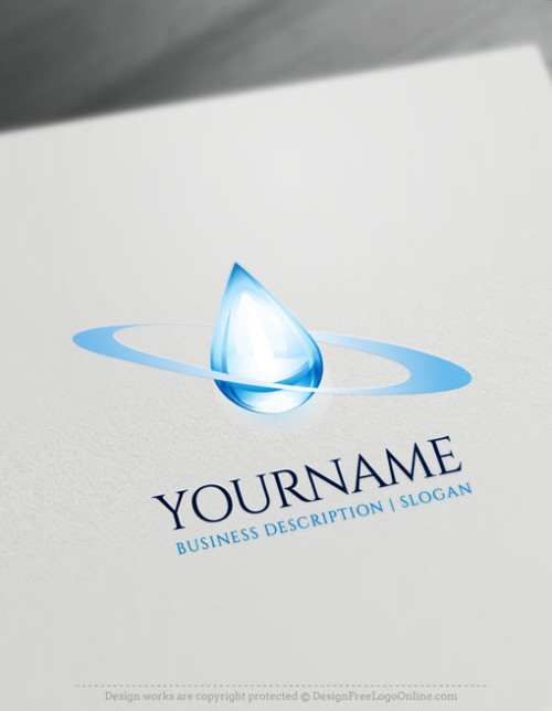 Create Your Own Water Drop Logo Ideas with free 3D Logo maker