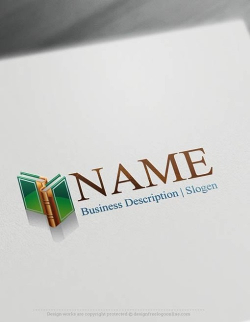 Create a Logo Free - Books Logo Templates